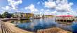 canvas print picture - Flensburg Hafen Panorama