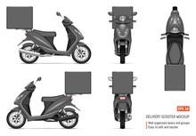 Realistic Motorbike Vector Illustration