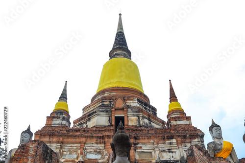 Ancient Buddha in Thailand.