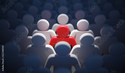 Obraz Liadership, difference and standing out of crowd concept. 3D rendered illustration. - fototapety do salonu