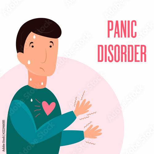 Fotografía  Man having panic attack. Health problem