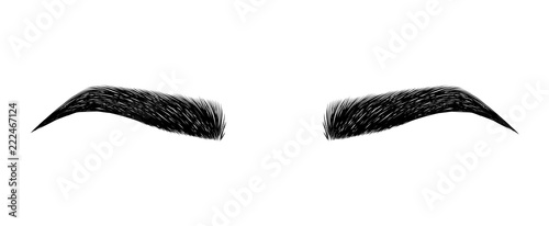 Obraz na płótnie eyebrow perfectly shaped
