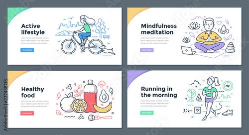 Fotografia  Healthy Habits Color Doodles
