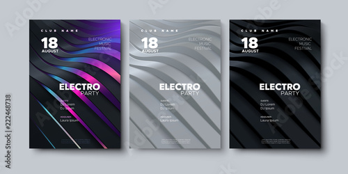 Cuadros en Lienzo Electronic music festival advertising poster