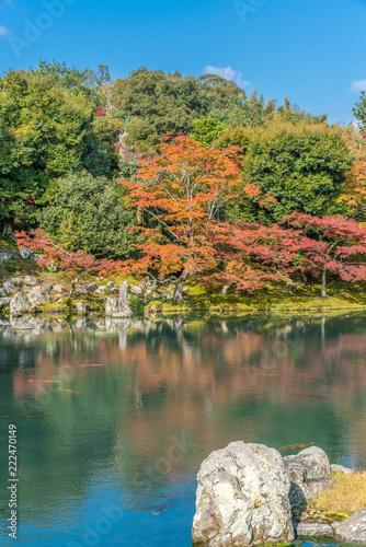 Fotografiet  Autumn colors at Sogenchi Garden at Tenryu-ji temple