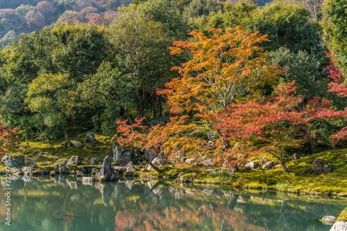 Foto  Autumn colors at Sogenchi Garden at Tenryu-ji temple