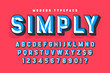 Chisel crafted display font with facets, alphabet