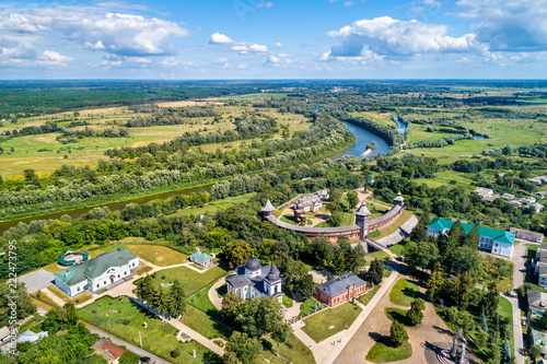 Foto  View of Baturyn Fortress with the Seym River in Ukraine