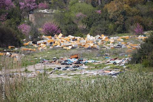 Fotobehang Khaki Campo Rom - Guidonia Montecelio