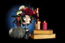 Low Key Mystical Halloween Still Life
