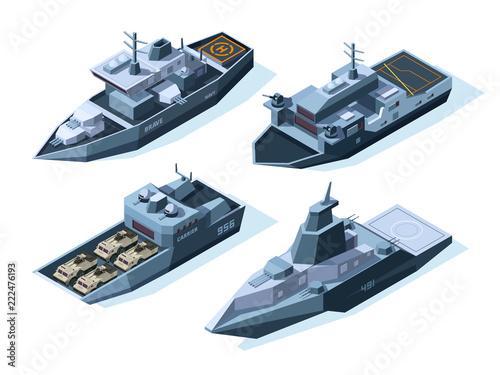 Fotomural Isometric warships