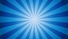 Blue Sunburst Background - Vec...