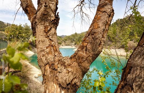 Foto op Canvas Cyprus Saittas dam in Cyprus