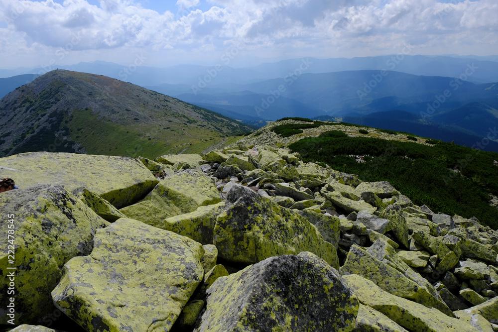 Obrazy na płótnie - Ukraina, Karpaty Wschodnie - góry