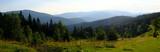 Ukraina, Karpaty Wschodnie - góry Gorgany Środkowe, górska panorama z Przełęczy Legionów (Rogodze Wielkie)