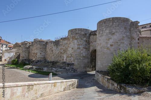 Puerta de 'Doña Urraca' en la muralla de la ciudad de Zamora, España.