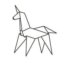 Origami Paper Unicorn