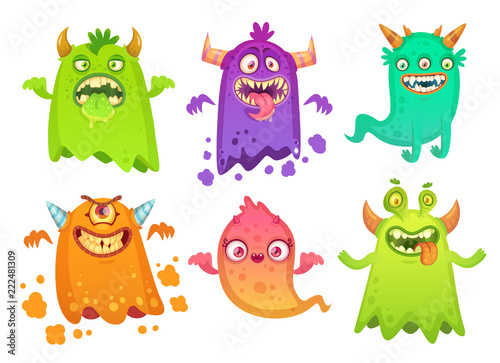Photo  Cartoon monster ghost