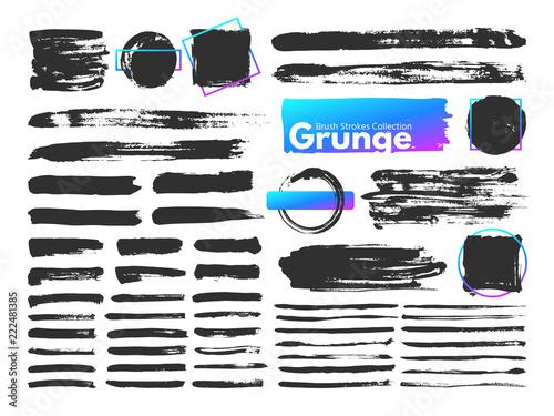 Grunge Brush Strokes Watercolor Paintbrush Stroke Line Dirty