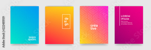 Fototapeta Abstract geometric pattern background with line texture for business brochure cover design. Gradient Pink, orange, purple, blue and green vector banner poster template obraz
