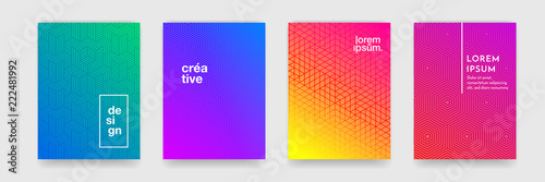 Fotografía Abstract geometric pattern background with line texture for business brochure cover design