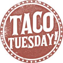 Taco Tuesday Special Menu Stamp