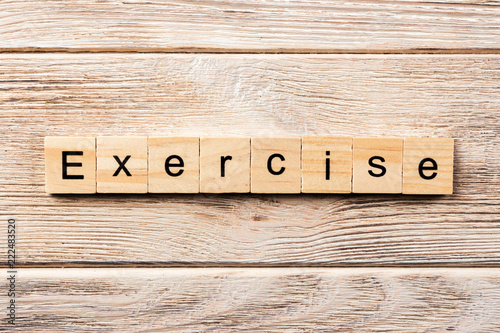 Exercise Word Written On Wood Block Exercise Text On Table Concept Buy This Stock Photo And Explore Similar Images At Adobe Stock Adobe Stock