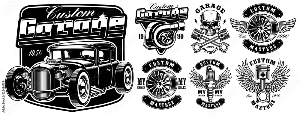Fototapeta Car service badges.