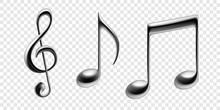 Music Notes Vector Metallic Is...