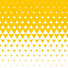 Abstract Yellow And White Tria...