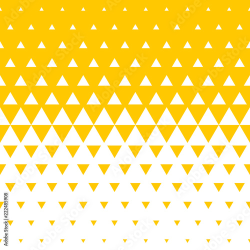 Cuadros en Lienzo Abstract yellow and white triangle halftone pattern background