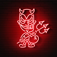 Red Devil Neon.Young Demon Or ...