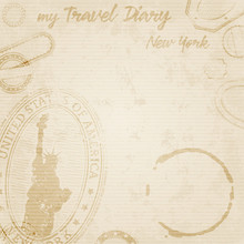 Grunge Travel Diary To New York Template
