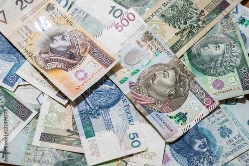 Fotomural  polish money background, 500 pln