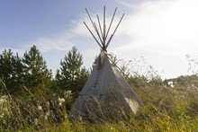 Tipi - Native American Tent - In The Autumn Landscape
