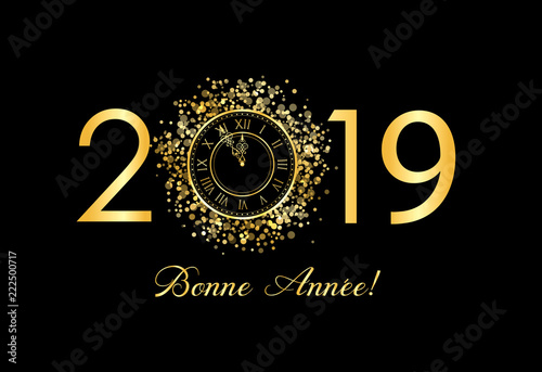 Photographie  2018 doré txte bonne année