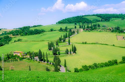 Deurstickers Toscane Toskana Landschaft