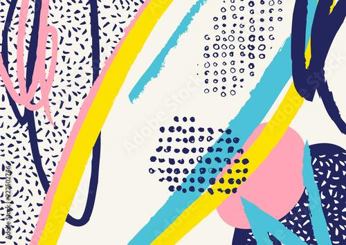 creative-naglowek-sztuka-doodle-z-roznych-ksztaltow-i-tekstur-kolaz-wektor