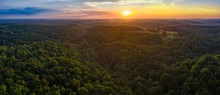 Sunset Over Hills In TN
