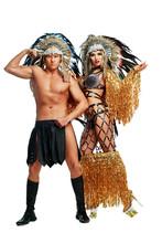Dancers Wearing Native American Costumes