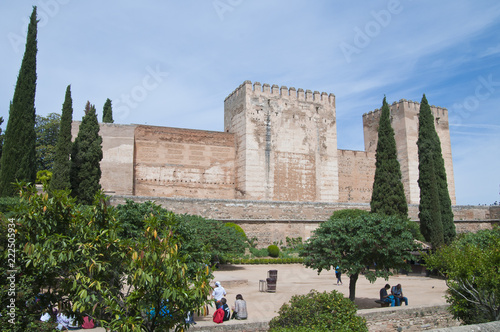 Wall Murals Artistic monument Alcazaba, Alhambra, Granada, Andalusien, Spanien