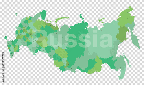 Russian vector map on a transparent background. Russia. Moscow - Buy ...