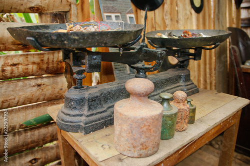 Antique scale made of cast iron in Minas Gerais, Brasil.