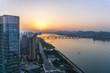 panoramic city skyline in hangzhou china