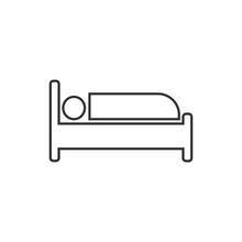 Bed Icon. Vector Illustration,...