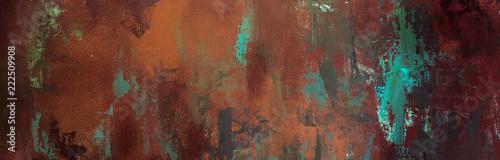 Fotografie, Obraz rusty texture, background, pattern, design, long banner