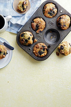 Blueberry And Walnut Coffee Cakes