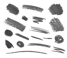 Vector Set Of Crayons Gray Str...