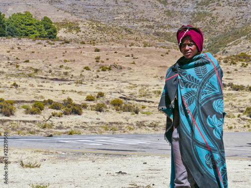 In the African Kingdom of Lesotho, the Basotho people wear traditional tribal blankets on special occasions Tapéta, Fotótapéta