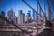 New York City Skyline from Brooklyn Bridge